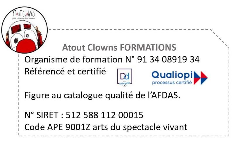 Certification Qualiopi Atout Clowns
